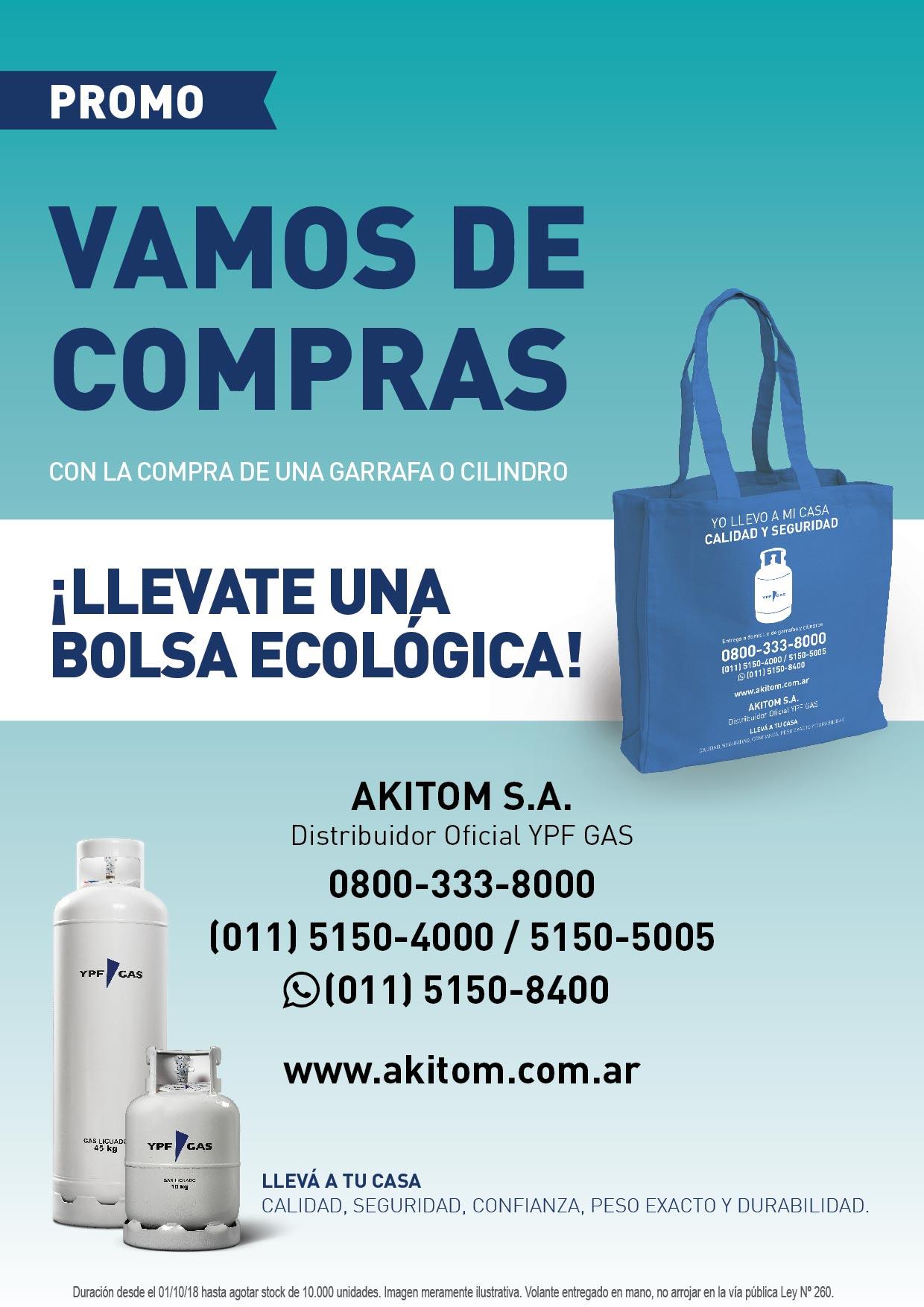 Llevate una Bolsa Ecológica de regalo!