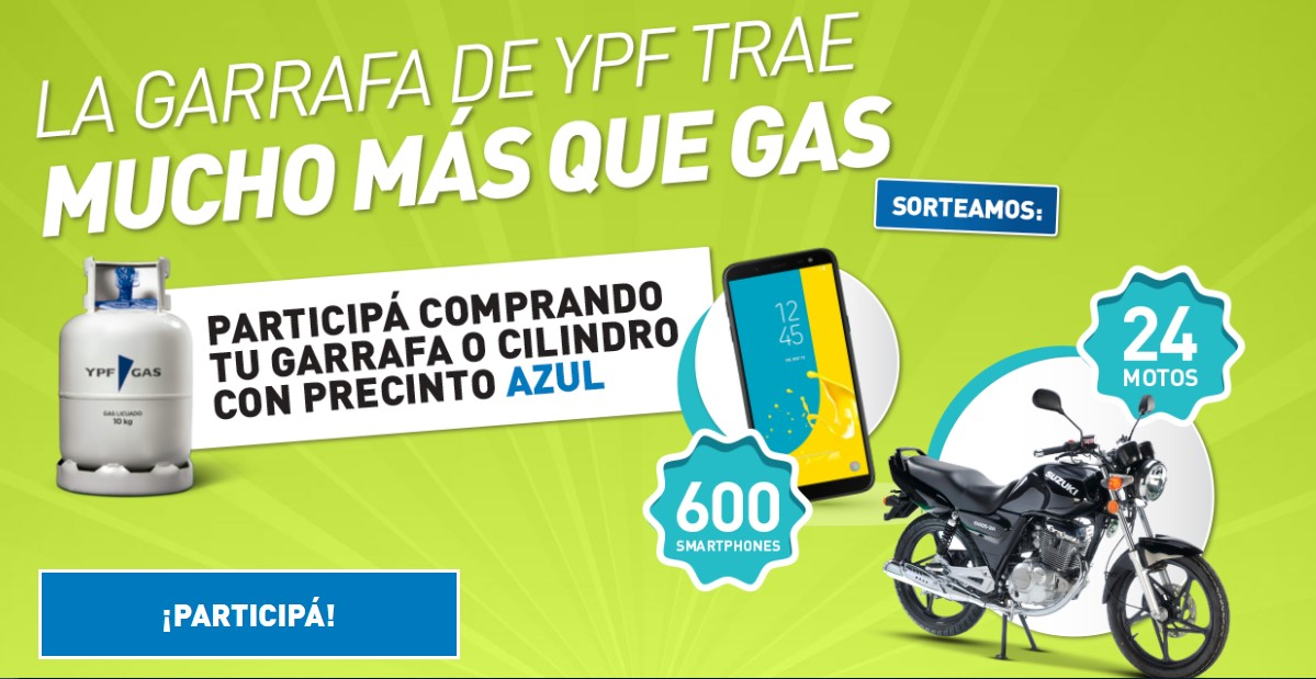 La garrafa de YPF trae mucho más que gas