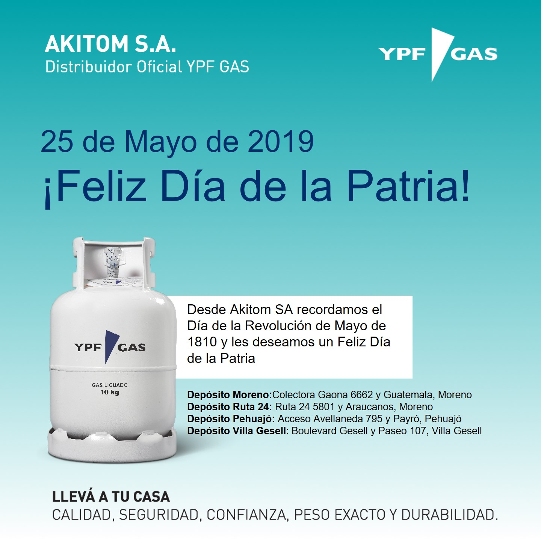 Horario del Feriado del 25/05/2019