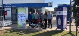 Una de las 24 motos sorteadas por YPF Gas se quedó en Moreno