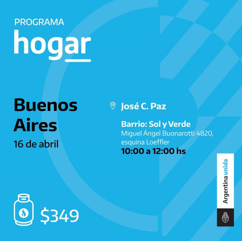 Programa Hogar en el barrio Sol y Verde de José C. Paz