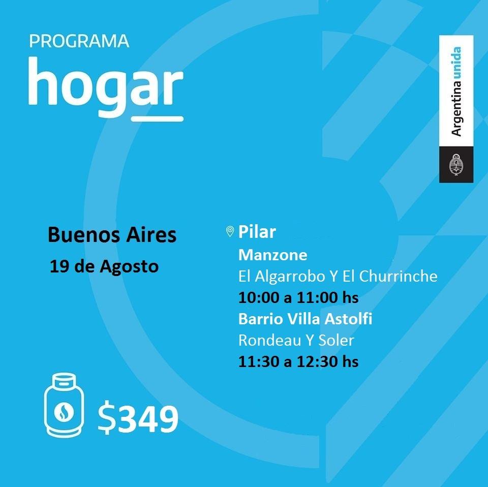 Operativo del Programa Hogar en los barrios Manzone y Villa Astolfi de Pilar
