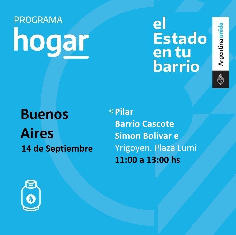 Operativo del Programa Hogar en el barrio Derqui de Pilar