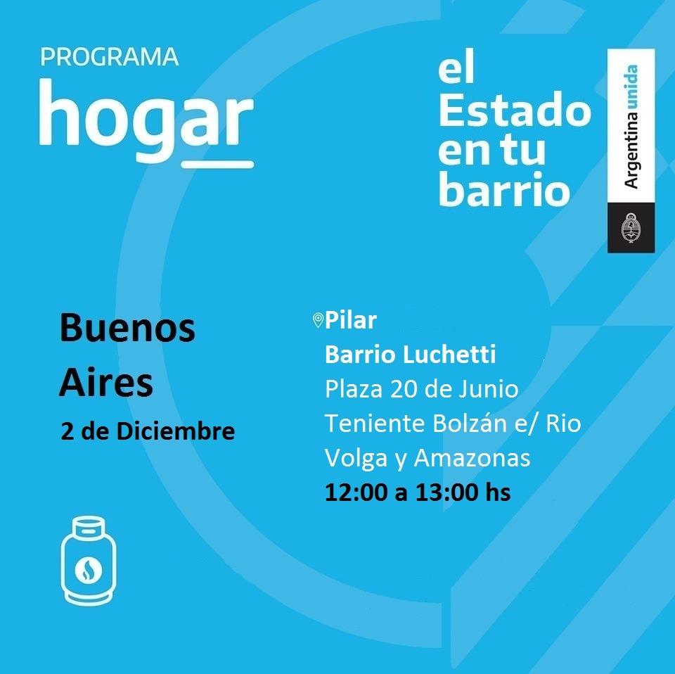 Operativo del Programa Hogar en el barrio Manzanares de Pilar
