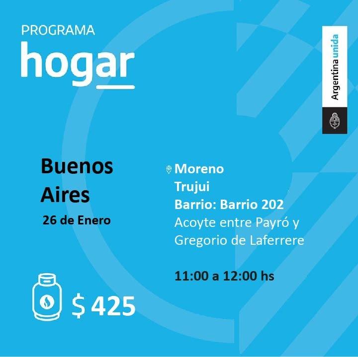 Operativo del Programa Hogar en el barrio Trujui de Moreno