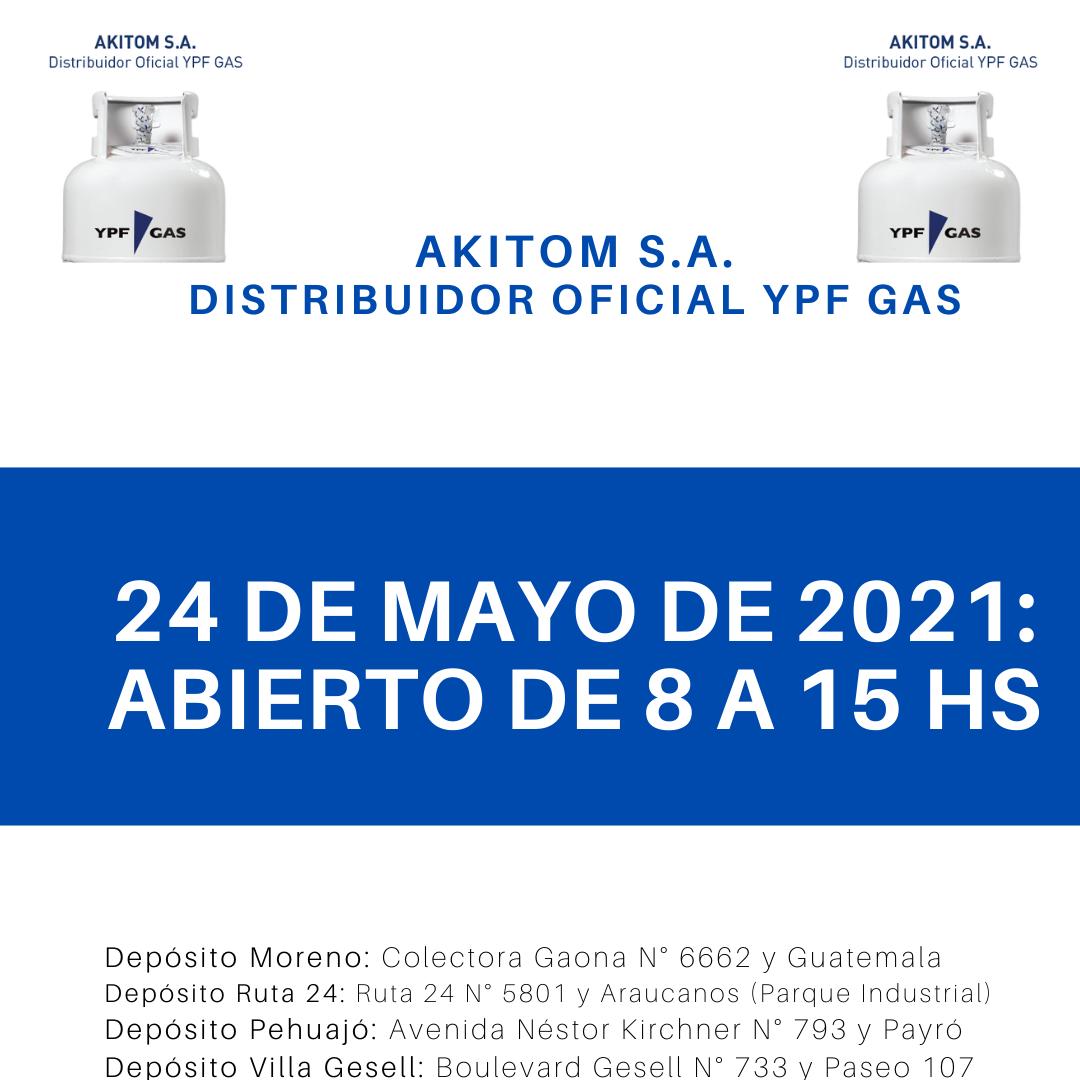 Horario del Feriado del 24 de Mayo de 2021