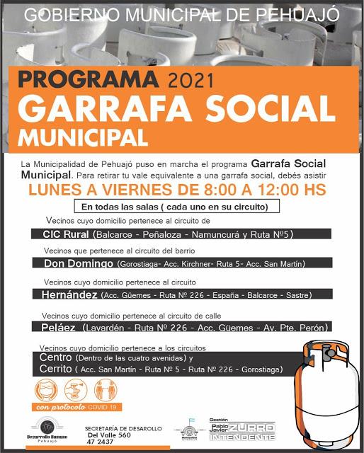 Empezó el Programa Garrafa Social Municipal en Pehuajó