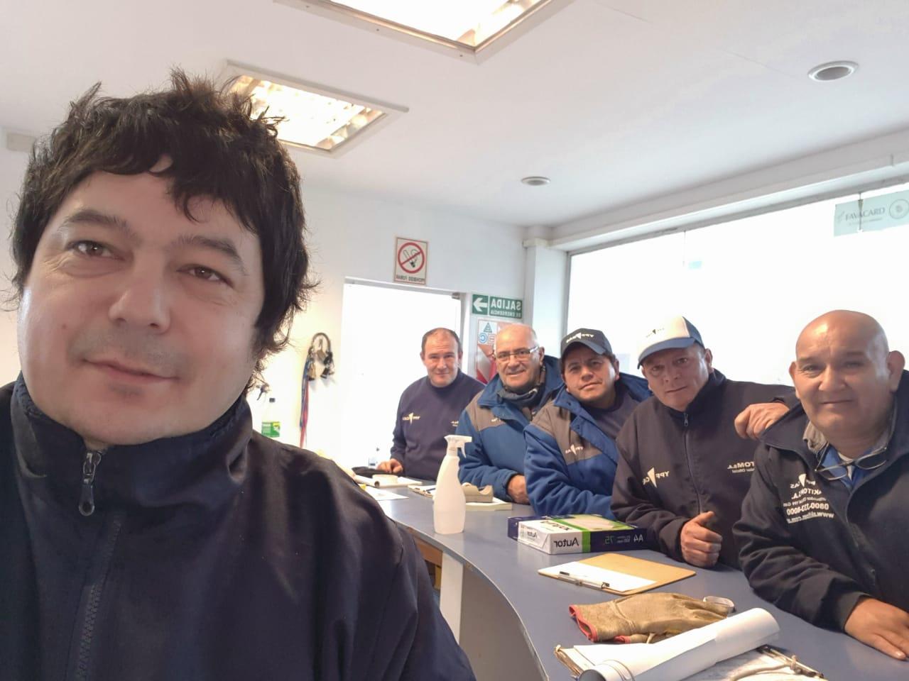 Reunión de trabajo en el Depósito Villa Gesell
